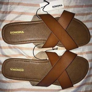 Sonoma Cognac Sandals SZ: L 9/10